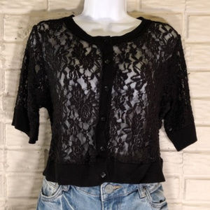 TORRID | Black Lace Bolero/Shrug | Beautiful